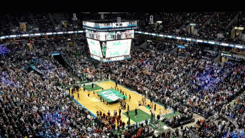 Seating view for BMO Harris Bradley Center Section 437 Row U Seat 5