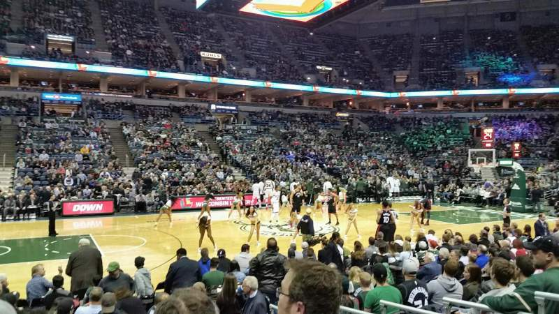 Seating view for BMO Harris Bradley Center Section 215 Row H Seat 12