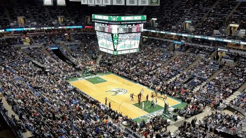 Seating view for BMO Harris Bradley Center Section 438 Row S Seat 5