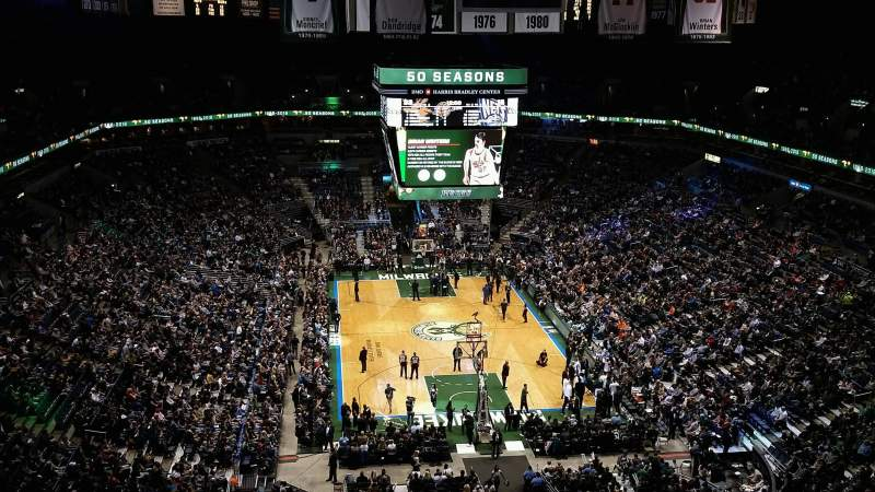 Seating view for BMO Harris Bradley Center Section 412 Row R Seat 8