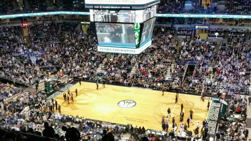 Seating view for BMO Harris Bradley Center Section 442 Row T Seat 5