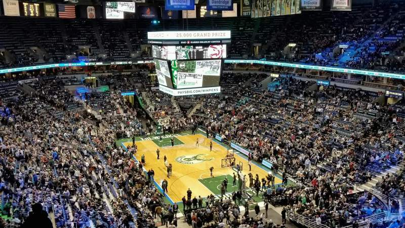 Seating view for BMO Harris Bradley Center Section 414 Row M Seat 8