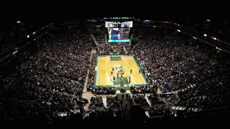 Seating view for BMO Harris Bradley Center Section 412 Row X Seat 2