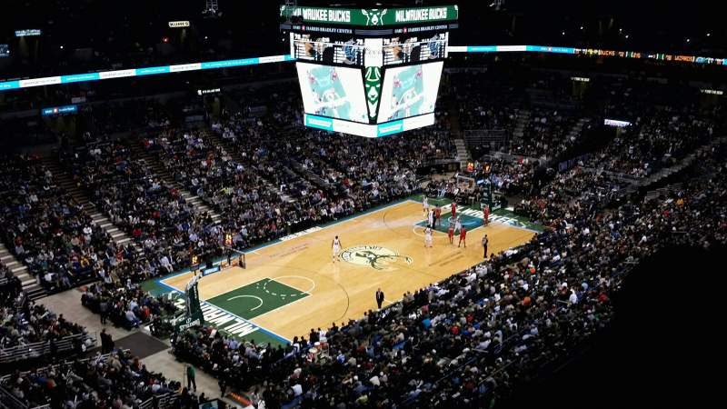 Seating view for BMO Harris Bradley Center Section 405 Row S Seat 12