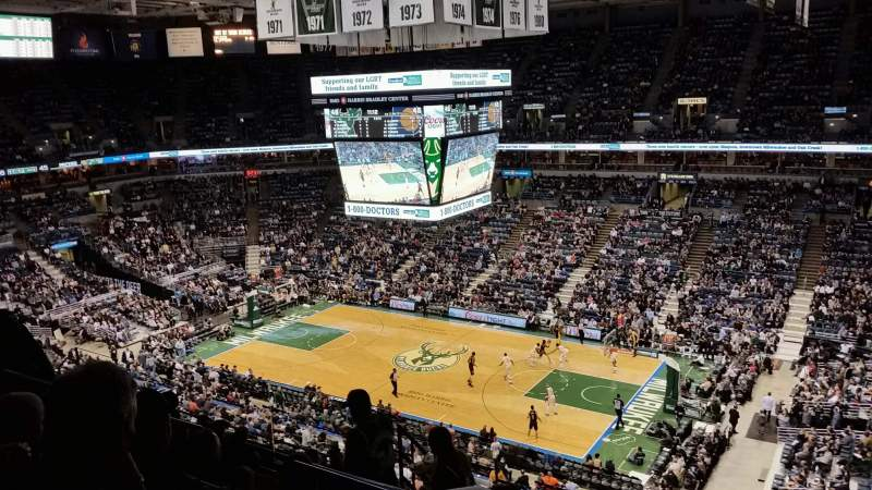 Seating view for BMO Harris Bradley Center Section 419 Row K Seat 6
