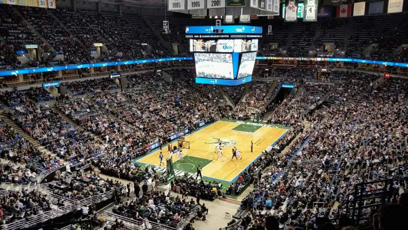 Seating view for BMO Harris Bradley Center Section 429 Row J Seat 13