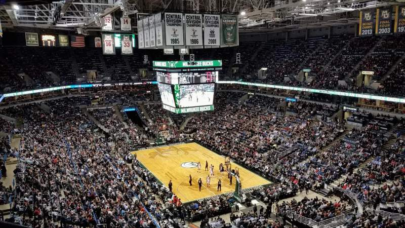 Seating view for BMO Harris Bradley Center Section 436 Row P Seat 14