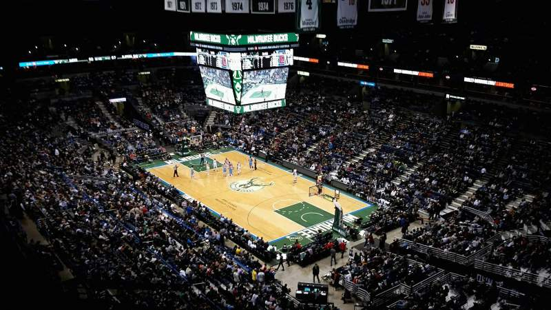 Seating view for BMO Harris Bradley Center Section 416 Row U Seat 2