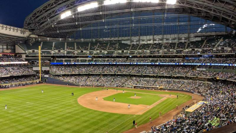 Seating view for Miller Park Section Northwestern Mutual Club