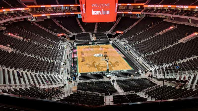 Seating view for Fiserv Forum Section 216 Row 3 Seat 3