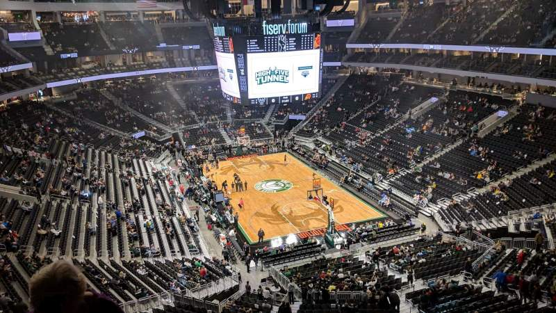 Seating view for Fiserv Forum Section 217 Row 7 Seat 10