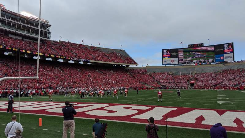 Seating view for Camp Randall Stadium Section Y3 Row 3 Seat 10