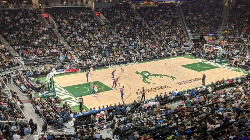 Seating view for Fiserv Forum Section Suite 15