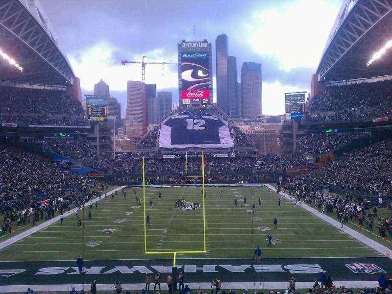 Seating view for CenturyLink Field Section 122 Row kk Seat 6