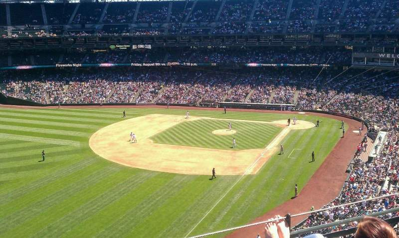 Seating view for Safeco Field Section 347 Row 3 Seat 20