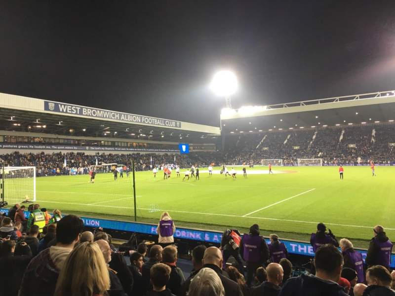 Seating view for The Hawthorns Section A6 Row 6