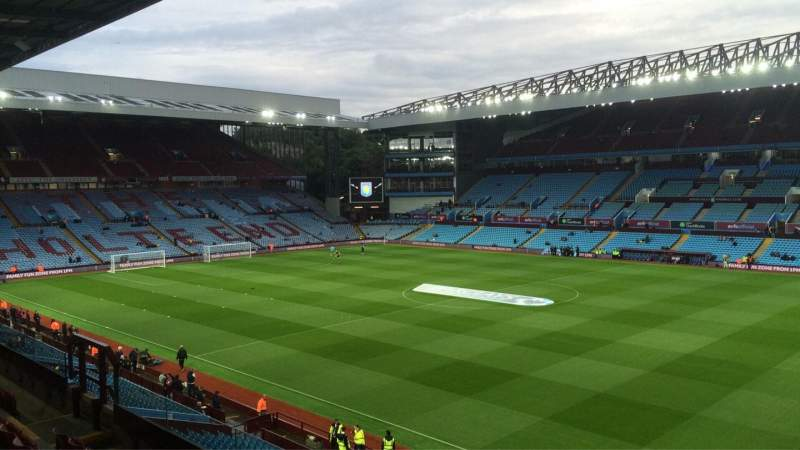 Seating view for Villa Park Section P9 Row EE Seat 52