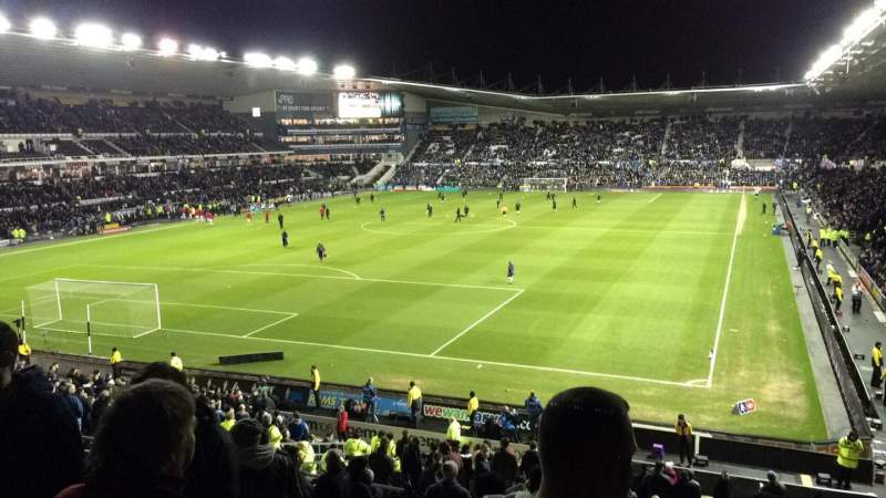 Seating view for Pride Park Section 54 Row P Seat 618