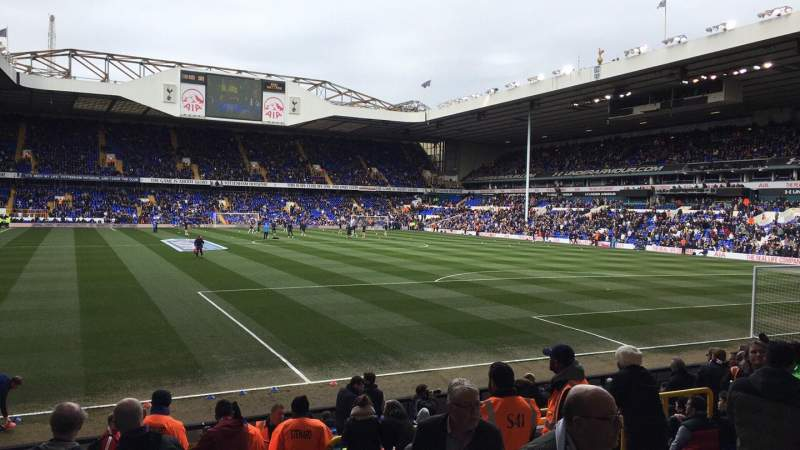 Seating view for White hart Lane Section 36 Row 7 Seat 145