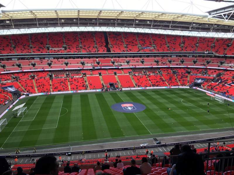 Seating view for Wembley Stadium Section 528 Row 19 Seat 54