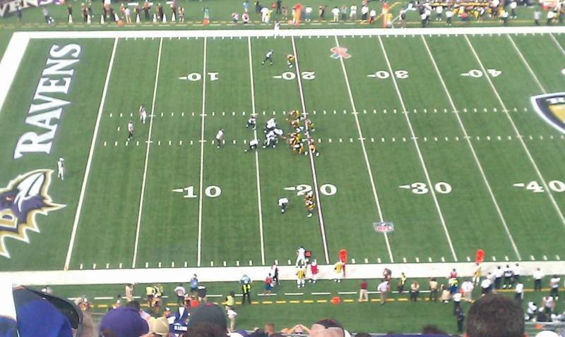 Seating view for M&T Bank Stadium Section 529 Row 27