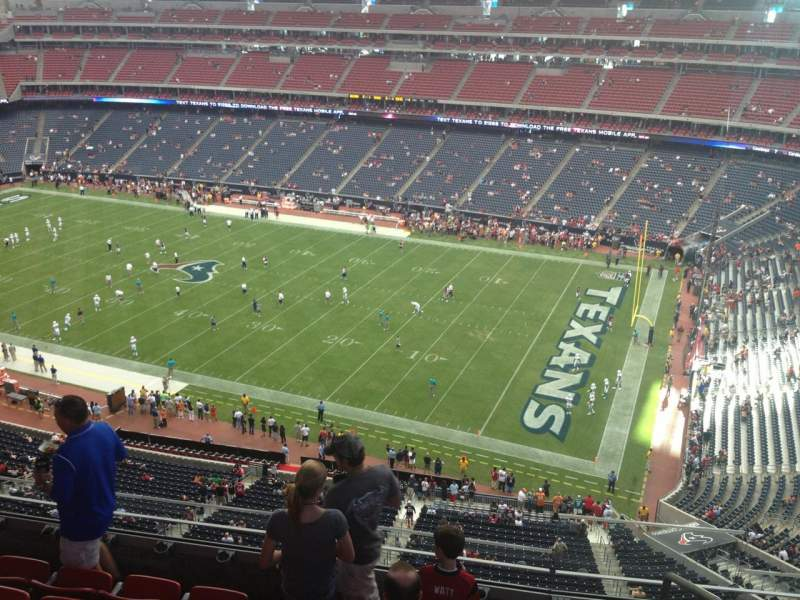 Seating view for NRG Stadium Section 530 Row M Seat 1