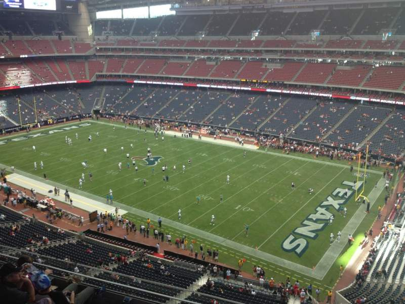 Seating view for NRG Stadium Section 529 Row M Seat 1