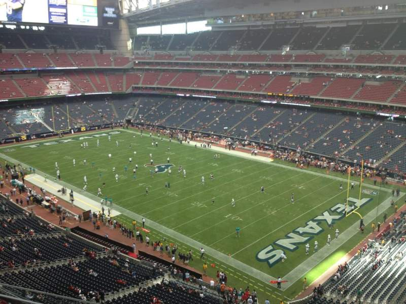 Seating view for NRG Stadium Section 528 Row L Seat 1