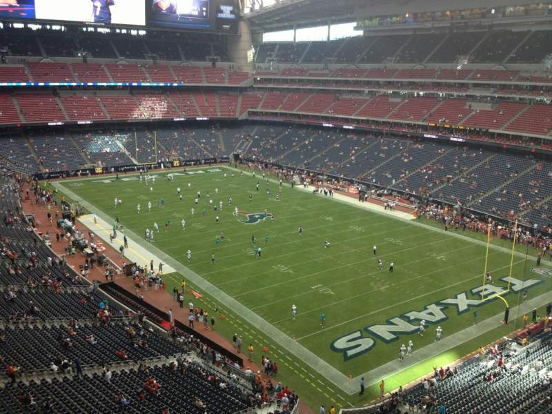 Seating view for NRG Stadium Section 527 Row H Seat 1