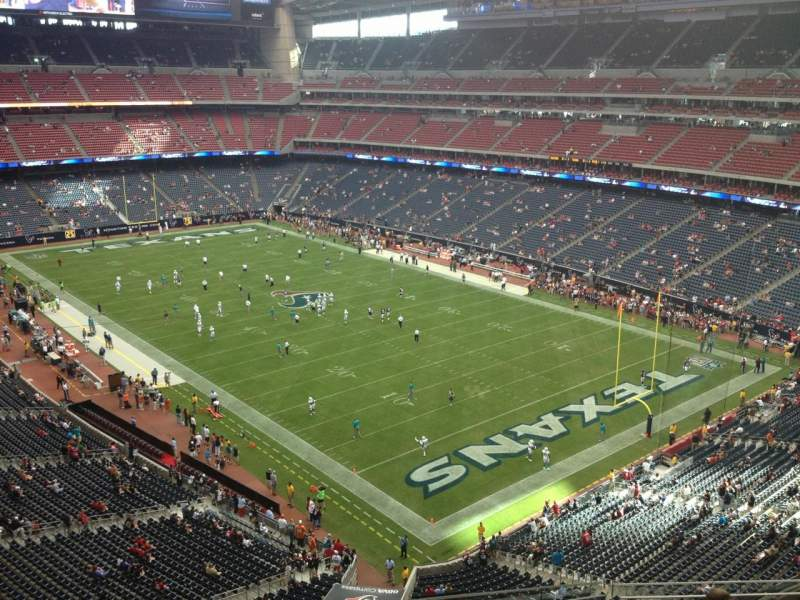 Seating view for NRG Stadium Section 526 Row J Seat 16