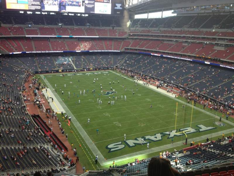 Seating view for NRG Stadium Section 525 Row M Seat 1