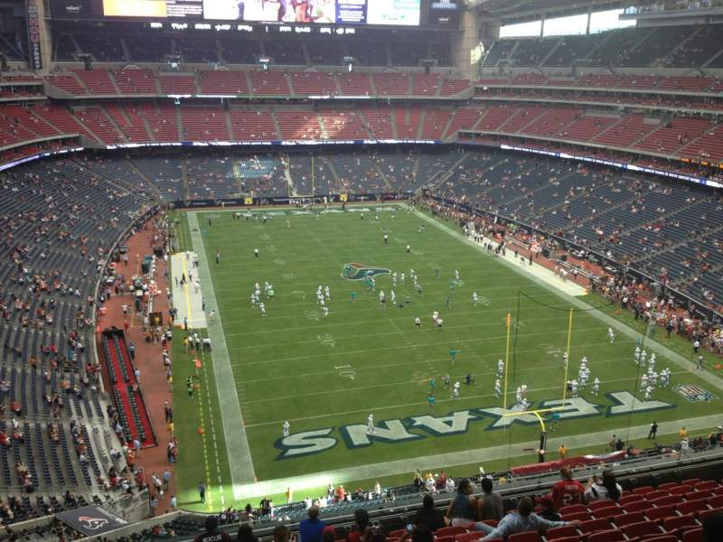 Seating view for NRG Stadium Section 523 Row M Seat 18
