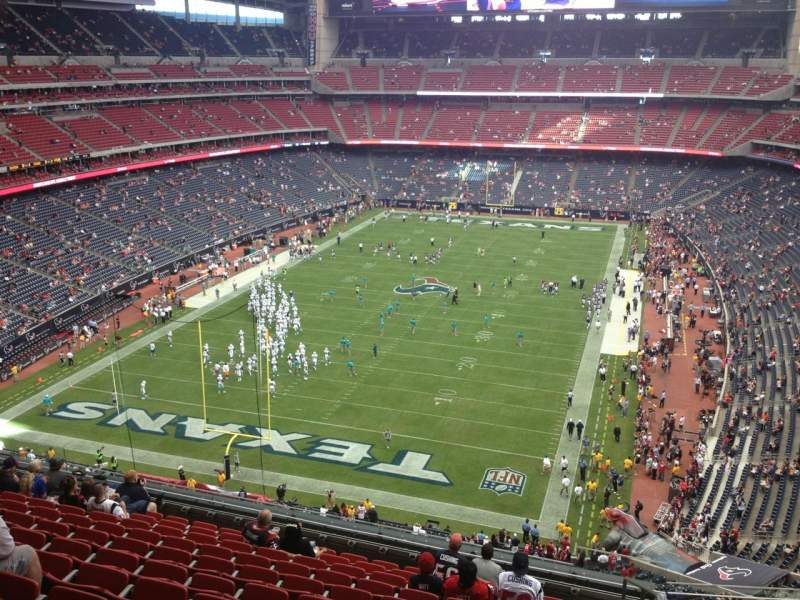 Seating view for NRG Stadium Section 518 Row M Seat 10