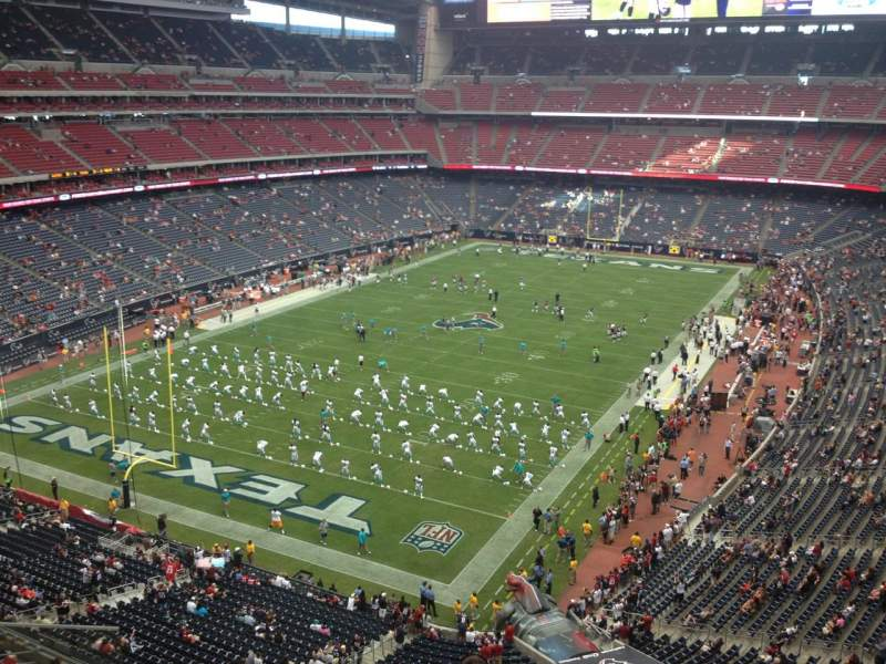 Seating view for NRG Stadium Section 517 Row F Seat 10