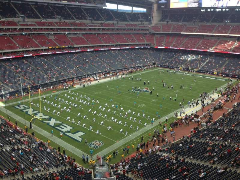 Seating view for NRG Stadium Section 515 Row J Seat 15