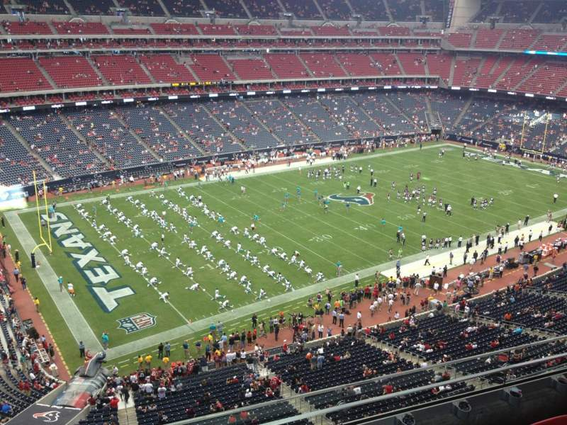 Seating view for NRG Stadium Section 512 Row K Seat 13