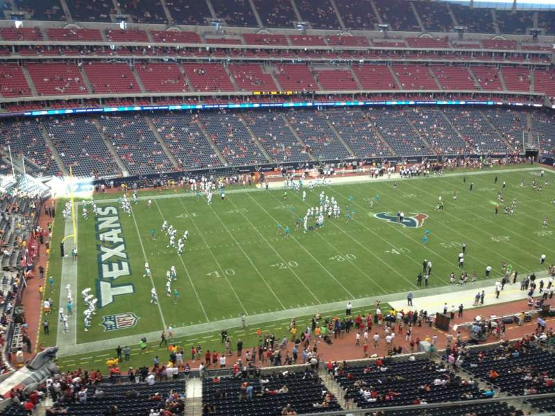 Seating view for NRG Stadium Section 512 Row K Seat 12