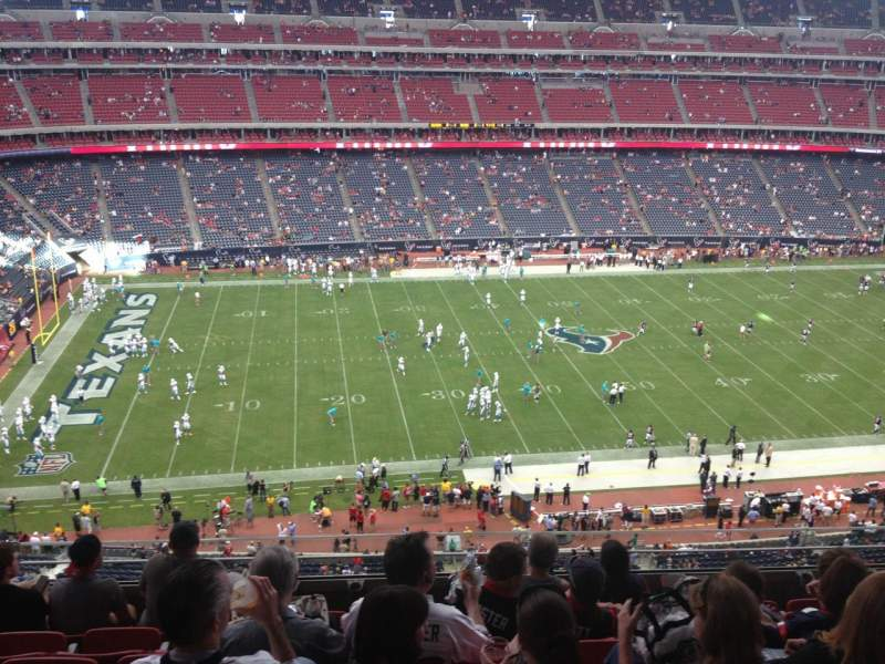Seating view for NRG Stadium Section 510 Row M Seat 22
