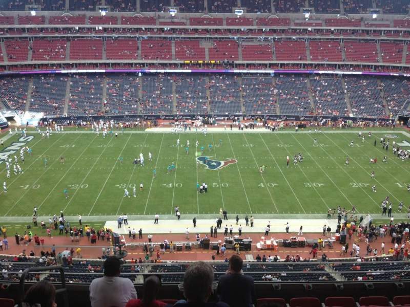 Seating view for NRG Stadium Section 503 Row M Seat 23