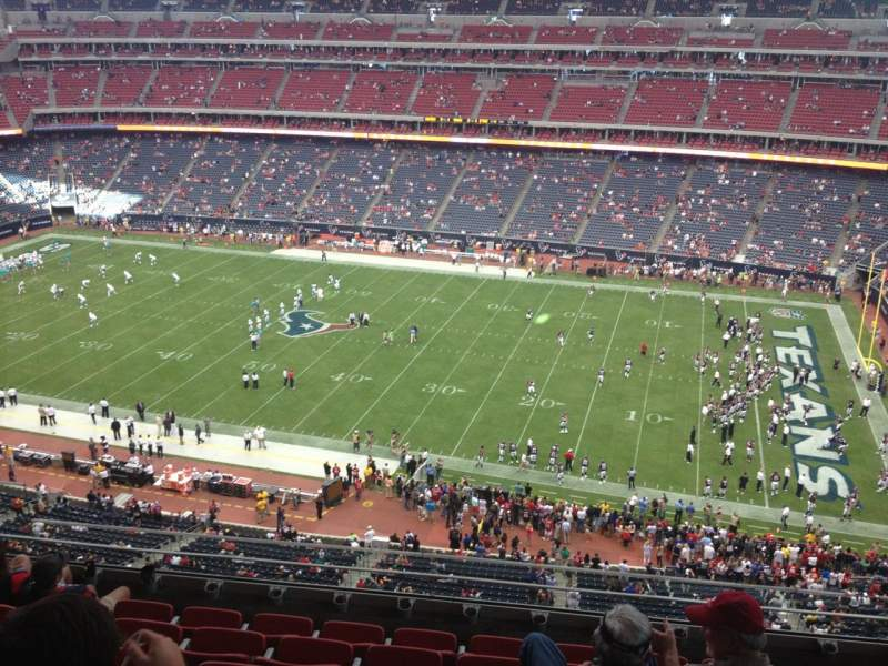 Seating view for NRG Stadium Section 505 Row M Seat 15