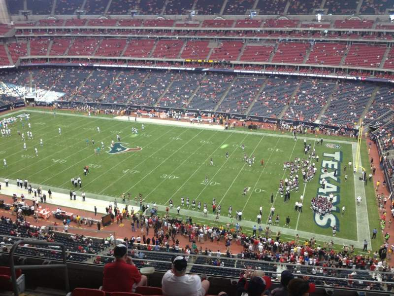 Seating view for NRG Stadium Section 504 Row M Seat 23