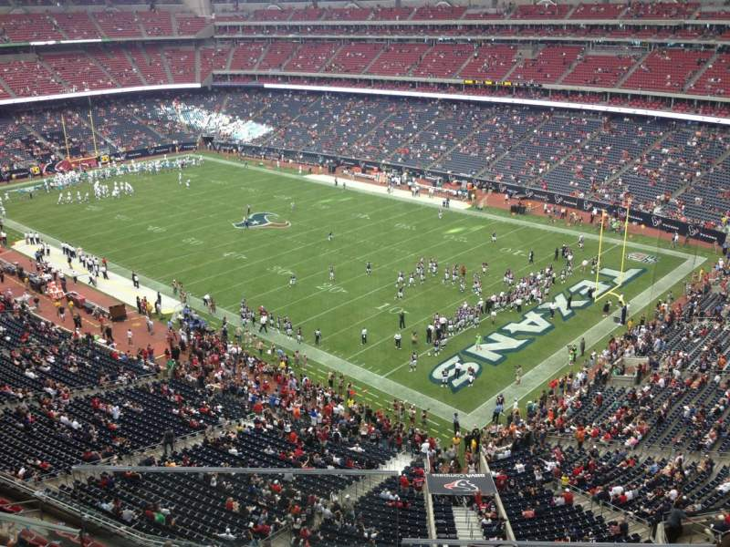 Seating view for NRG Stadium Section 501 Row I Seat 18