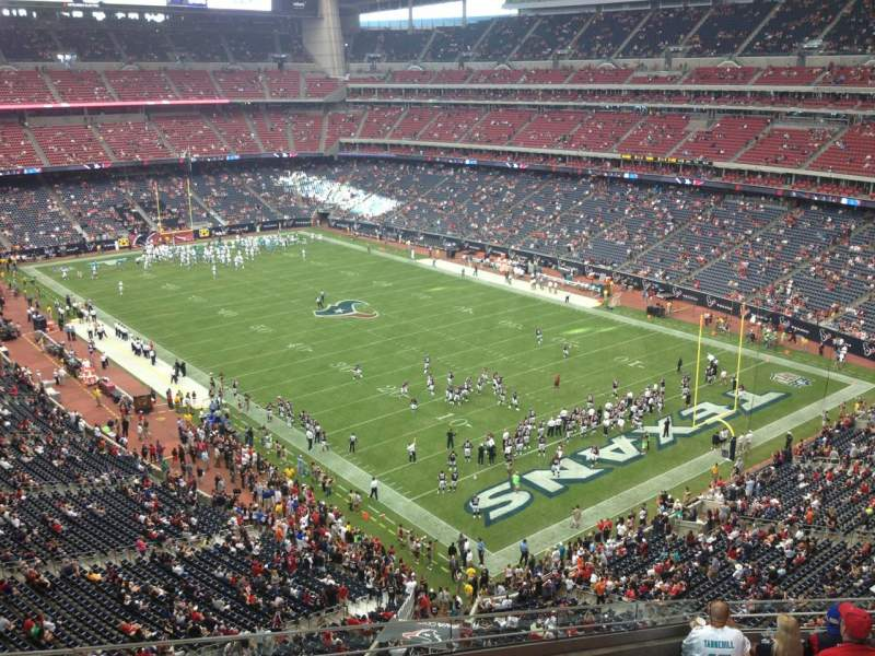 Seating view for NRG Stadium Section 552 Row J Seat 16
