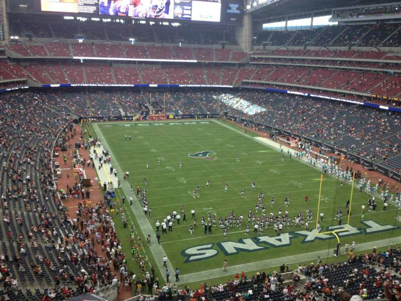 Seating view for NRG Stadium Section 550 Row G Seat 14