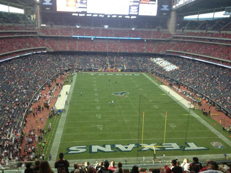 Seating view for NRG Stadium Section 548 Row M Seat 22