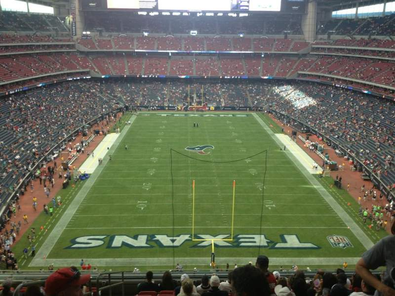 Seating view for NRG Stadium Section 547 Row M Seat 20