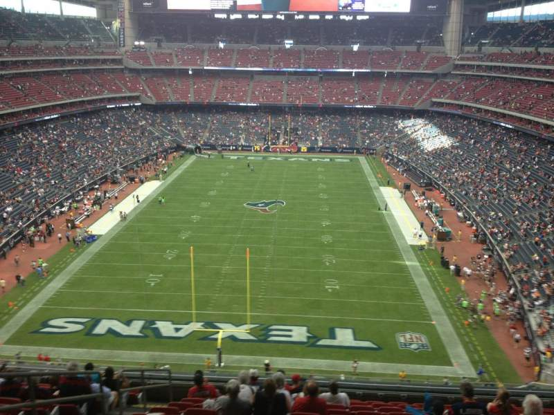 Seating view for NRG Stadium Section 546 Row M Seat 23