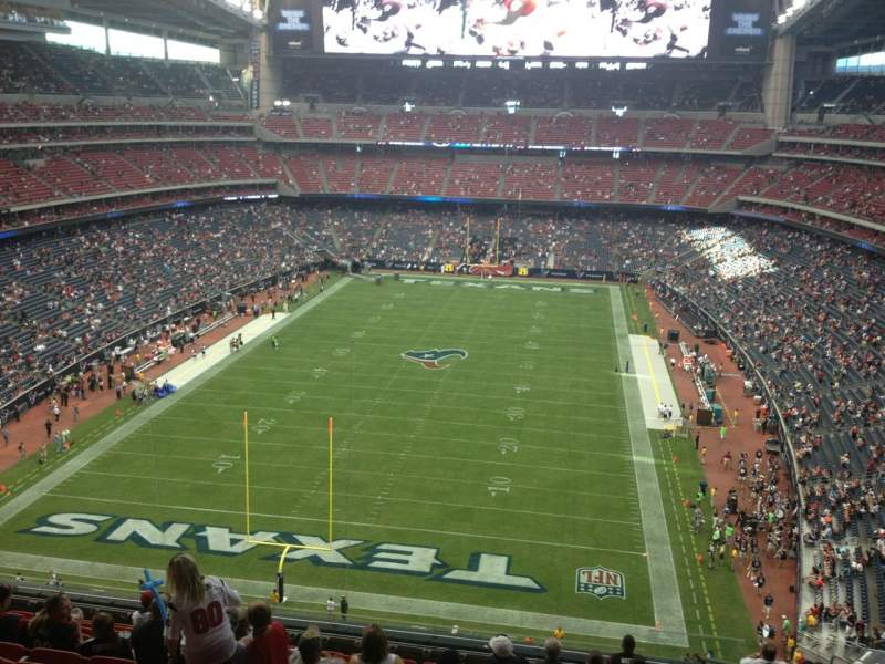 Seating view for NRG Stadium Section 546 Row M Seat 4