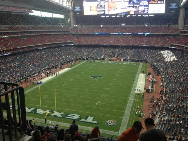 Seating view for NRG Stadium Section 544 Row M Seat 22