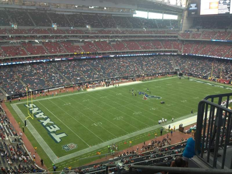 Seating view for NRG Stadium Section 540 Row M Seat 1